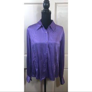 Allison Taylor vintage purple silk blouse
